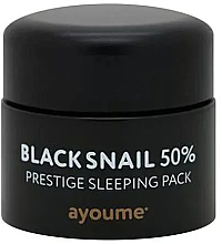 Fragrances, Perfumes, Cosmetics Anti-Aging Leave-in Overnight Mask with Black Snail Mucin - Ayoume Black Snail Prestige Sleeping Pack