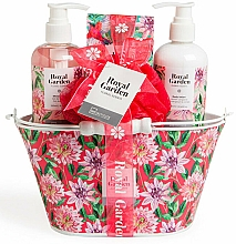 Fragrances, Perfumes, Cosmetics Set - IDC Institute Royal Garden (sh/g/250ml+b/lot/250ml+salt/100g+sponge)