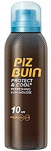 Fragrances, Perfumes, Cosmetics Refreshing Sun Mousse - Piz Buin Protect & Cool Refreshing Sun Mousse SPF10