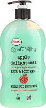 "Fragrances, Perfumes, Cosmetics Kids Shower Gel-Shampoo ""Apple"" - Bluxcosmetics Naturaphy"