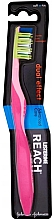 Fragrances, Perfumes, Cosmetics Soft Toothbrush, pink - Listerine Reach Dual Effect Soft