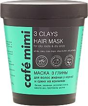 "Fragrances, Perfumes, Cosmetics Hair Mask ""3 Clay"" - Cafe Mimi Mask"
