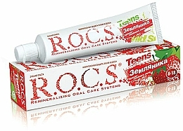 """Fragrances, Perfumes, Cosmetics Toothpaste """"Sultry Summer Aroma With Strawberry Flavor"""" - R.O.C.S. Teens"""