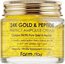Fragrances, Perfumes, Cosmetics Gold & Peptide Ampoule Cream - FarmStay 24K Gold & Peptide Perfect Ampoule Cream