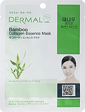 Fragrances, Perfumes, Cosmetics Collagen and Bamboo Extract Mask - Dermal Bamboo Collagen Essence Mask