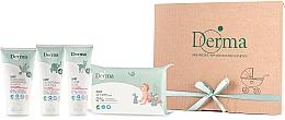 Fragrances, Perfumes, Cosmetics Set - Derma Eco Baby (cr/100ml+cr/100ml+shm/150ml+wipe/64)