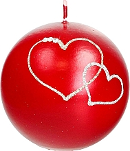 Fragrances, Perfumes, Cosmetics Decorative Candle Red Ball, 10 cm - Artman Forever