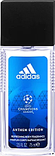 Fragrances, Perfumes, Cosmetics Natural Deodorant Spray - Adidas Anthem Edition UEFA Body