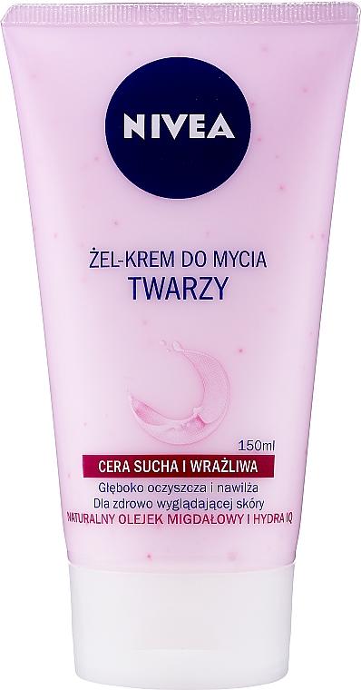 Washing Cream Gel for Dry and Sensitive Skin - Nivea Visage Cleansing Soft Cream Gel