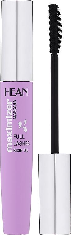 Mascara - Hean Maximizer Full Lashes Ricin Oil Mascara — photo N1