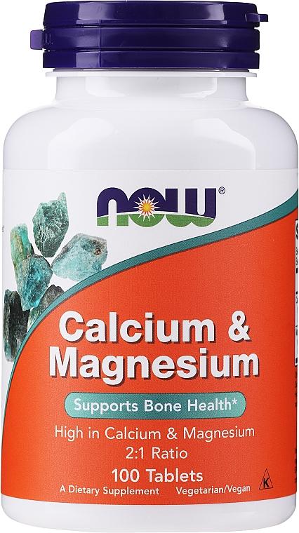 """Dietary Supplement """"Calcium & Magnesium"""" - Now Foods Calcium & Magnesium — photo N1"""