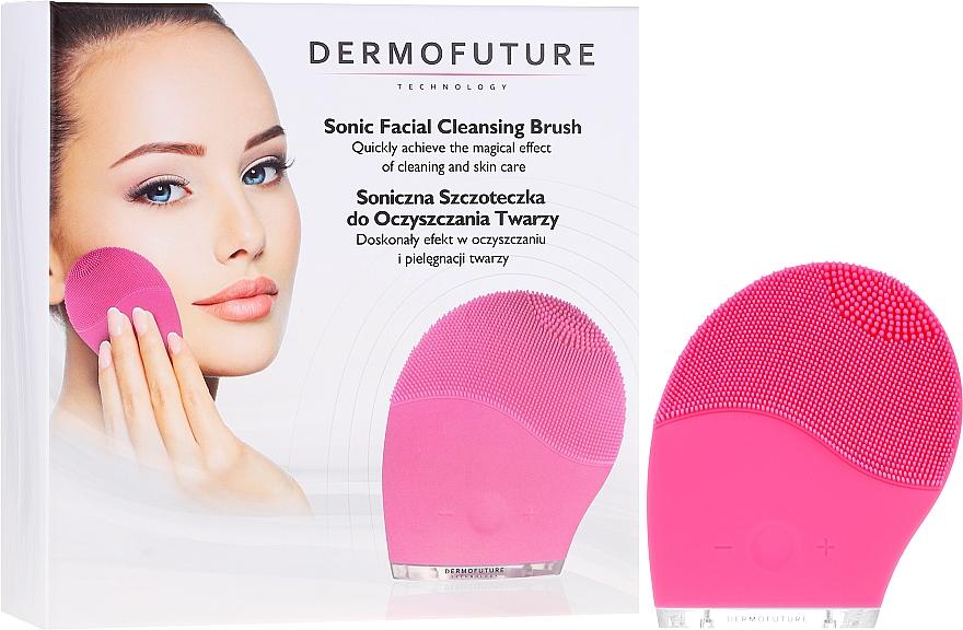 Sonic Facial Cleansing Brush, pink - Dermofuture