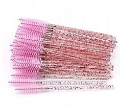 Fragrances, Perfumes, Cosmetics Disposable Lash & Brow Brushes, translucent pink - Lewer