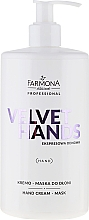 Fragrances, Perfumes, Cosmetics Hand Cream-Mask with Lily and Lilac Scent - Farmona Velvet Hands Cream-Mask