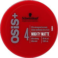 Fragrances, Perfumes, Cosmetics Ultra Matte Hair Cream - Schwarzkopf Professional Osis+ Mighty Matte Cream