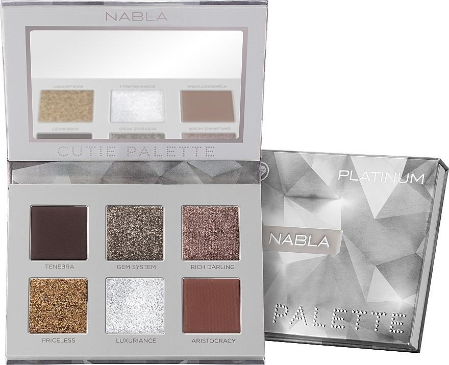 Eyeshadow Palette - Nabla Cutie Collection Palette Platinum