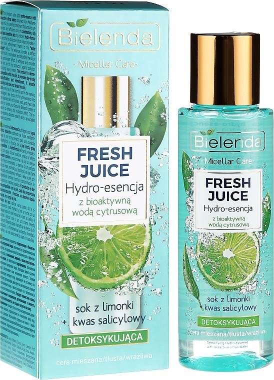 "Face Hydro Essence ""Lime"" - Bielenda Fresh Juice Detoxifying Face Hydro Essence Lime"