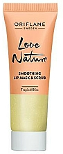 Fragrances, Perfumes, Cosmetics 2-in-1 Sugar Lip Scrub-Mask with Mint & Lime - Oriflame Love Nature Smoothing Lip Mask & Scrub