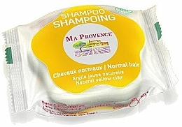 "Fragrances, Perfumes, Cosmetics Solid Bio Shampoo for Normal Hair ""Yellow Clay"" - Ma Provence Shampoo"