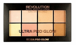 Fragrances, Perfumes, Cosmetics Highlighter Palette - Makeup Revolution Ultra Pro Glow