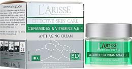 Fragrances, Perfumes, Cosmetics Ceramides and Vitamines A,E,F Anti-Wrinkle Cream 40+ - Ava Laboratorium L'Arisse 5D Anti-Wrinkle Cream Ceramides + Vitamines