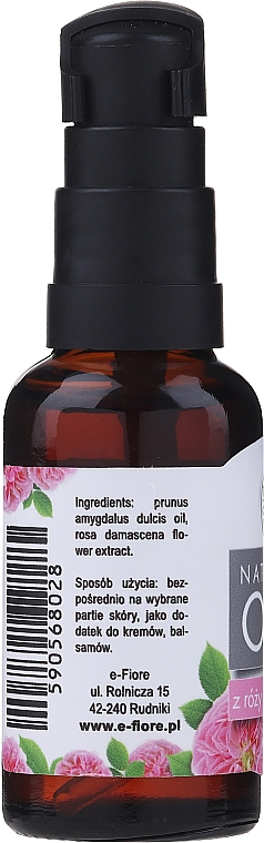 Damask Rose Oil - E-Fiore Natural Oil (with dispenser) — photo N2