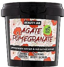 Fragrances, Perfumes, Cosmetics Spring Body Scrub - Beauty Jar Agate Pomegrante Spring Body Scrub