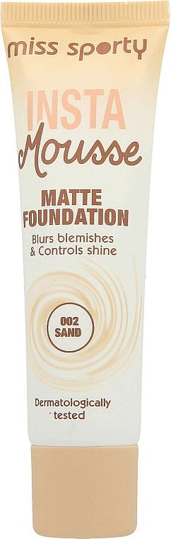 Mattifying Foundation - Miss Sporty Insta Mousse Matte Foundation