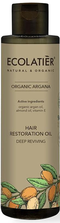 "Hair Oil ""Deep Repair"" - Ecolatier Organic Argana Hair Restoration Oil"