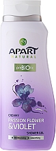"Fragrances, Perfumes, Cosmetics Shower Cream-Gel ""Passion Flower and Violet"" - Apart Natural PreBIOtic Passion Flower & Violet Shower Gel"