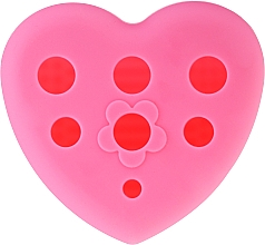 Fragrances, Perfumes, Cosmetics Washing & Drying Makeup Brush Silicone Brush with Stand, pink - Lash Brow