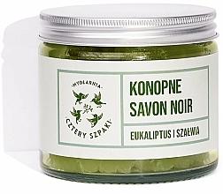 Fragrances, Perfumes, Cosmetics Natural Hemp Soap - Cztery Szpaki Savon Noir Soap