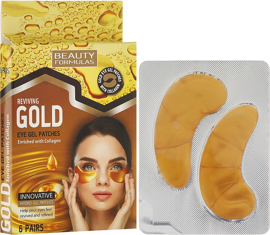 Eye Gel Patches - Beauty Formulas Reviving Gold Eye Gel Patches