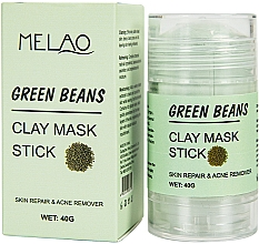 Fragrances, Perfumes, Cosmetics Green Beans Facial Mask Stick - Melao Green Beans Clay Mask Stick
