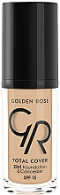 Fragrances, Perfumes, Cosmetics Foundation & Concealer - Golden Rose Total Cover 2in1 Foundation & Concealer