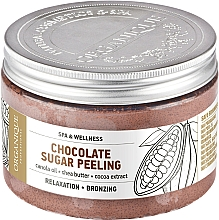 Fragrances, Perfumes, Cosmetics Smoothing Chocolate Sugar Body Peeling - Organique Professional Spa Therapie Chocolate Sugar Peeling