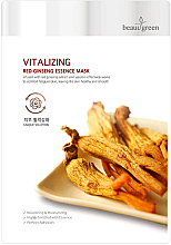 Fragrances, Perfumes, Cosmetics Facial Sheet Mask with Red Ginseng Extract - Beauugreen Vitalizing Red Ginseng Essence
