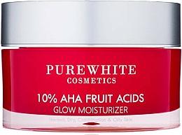 Fragrances, Perfumes, Cosmetics Moisturizing Cream - Pure White Cosmetics 10% AHA Fruit Acids Glow Moisturizer