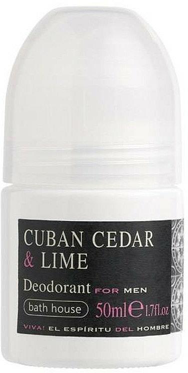 Bath House Cuban Cedar & Lime - Roll-On Deodorant