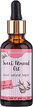 Fragrances, Perfumes, Cosmetics Sweet Almond Oil with Pipette - Nacomi Sweet Almond Oil