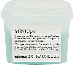 Fragrances, Perfumes, Cosmetics Shine & Color Preserving Hair Mask - Davines Minu Mask