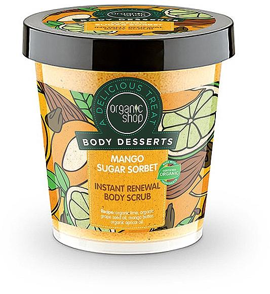 Antioxidant Body Scrub - Organic Shop Body Desserts Mango Sugar Sorbet — photo N1