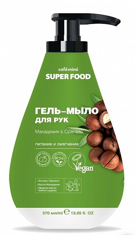 Macadamia & Oregano Hand Gel Soap - Cafe Mimi Super Food — photo N1