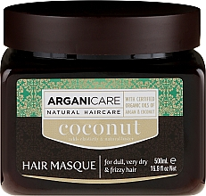 Fragrances, Perfumes, Cosmetics Repair Hair Structure Coconut Oil Mask - Arganicare Coconut Hair Masque For Dull, Very Dry & Frizzy Hair