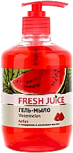 "Fragrances, Perfumes, Cosmetics Gel Soap with Glycerin ""Watermelon"" - Fresh Juice Watermelon"