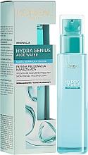 Fragrances, Perfumes, Cosmetics Face Aqua Fluid for Normal and Dry Skin - L'Oreal Paris Hydra Genius Aloe Water