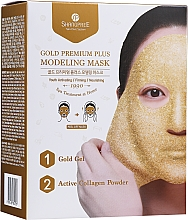 Fragrances, Perfumes, Cosmetics Facial Peel-Off Mask with Bowl - Shangpree Gold Premium Modeling Mask