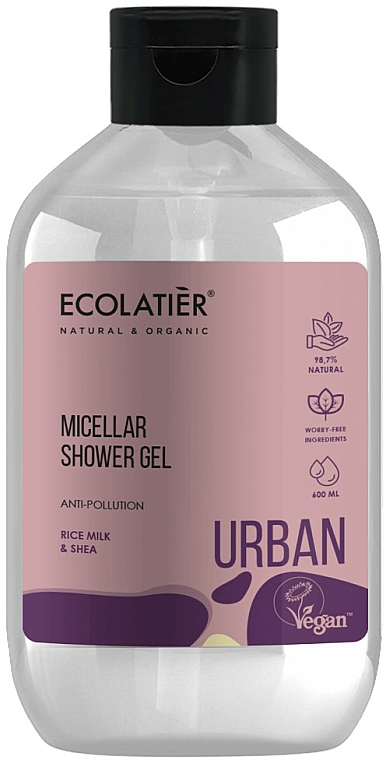 Rice Milk and Shea Butter Micellar Shower Gel - Ecolatier Urban Micellar Shower Gel