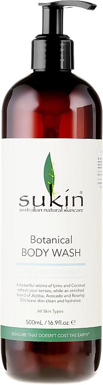 """Shower Gel """"Lime & Coconut"""" - Sukin Botanical Body Wash Lime & Coconut"""