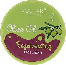 Fragrances, Perfumes, Cosmetics Face Cream with Olive Oil - Vollare Regenerating Olive Oil Face Cream